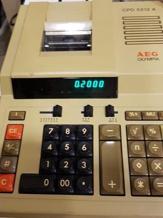 AEG OLYMPIA CPD 5212 A Calculadora vintage