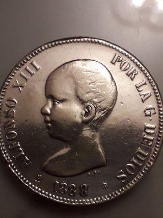 moneda de plata Alfonso XIII