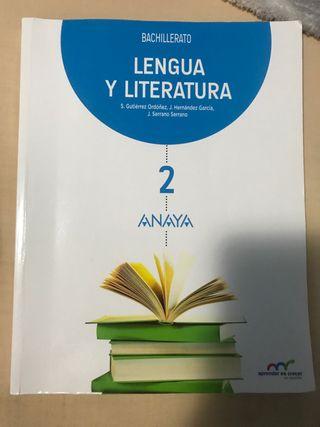 Libro de lengua y literatura Segundo bachillerato