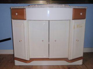 Mueble de 1m con encimera ,lavabo y espejo.
