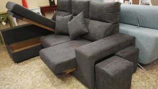 sofá de 2 plazas + chaisslonge con arcón ( promo )