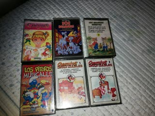 6 cintas de cassette infantiles. Escucho ofertas