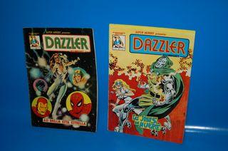 Lote de 2 comics vertice DAZZLER nº 1 y nº 2