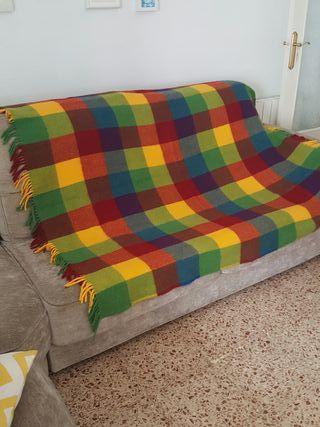 Manta de sofá de cuadros