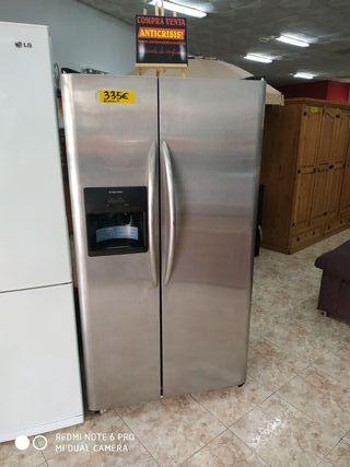 frigorífico americano electeolux inox