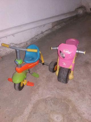 Moto y triciclo niños.