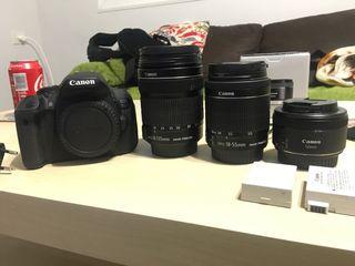 Canon 700D + 18-135 + 18-55 + 50mm