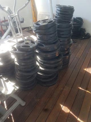 discos de peso de gimnasio