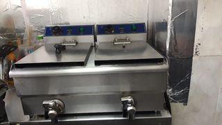 Freidora 2 cubetas 8 litros