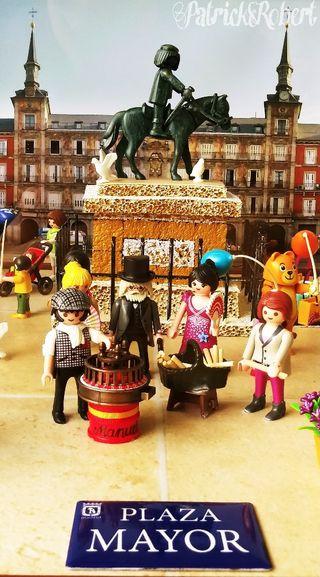 Diorama maqueta PLAYMOBIL Plaza Mayor de Madrid