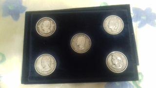 Monedas de plata de la familia real
