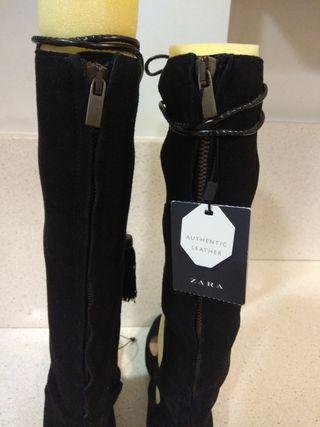 Zapatos Zara de piel a estrenar con etiqueta.