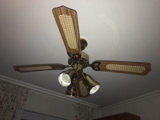 3 Lámparas con ventilador