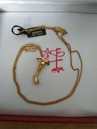 cadena oro 18 k Salvador dali