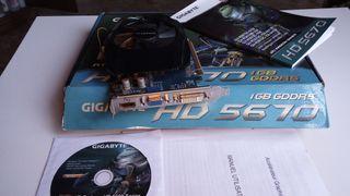 TARJETA GRAFICA GIGABYTE RADEON HD 5670 1GB DDR5