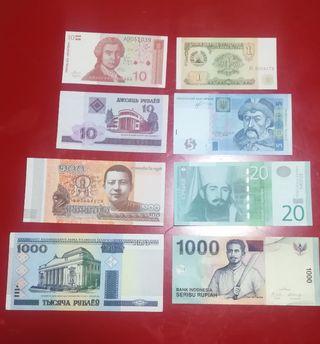 Lote billetes extranjeros