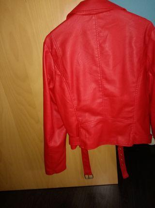 chaqueta imitando cuero mujer talla L