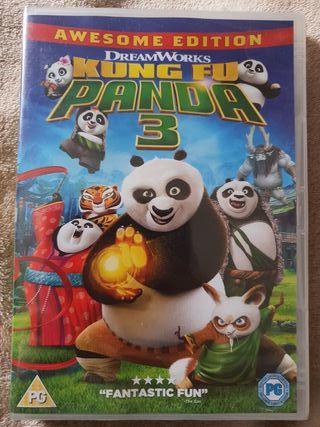 DVD kung fu panda 3 nuevo INGLÉS