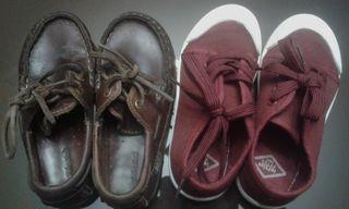 deportivas y Zapato d piel practicamente nuevos