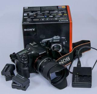 Camara de fotos reflex.