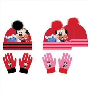 Set gorro guantes Minnie Disney surtido
