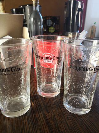 vasos seagrams gin