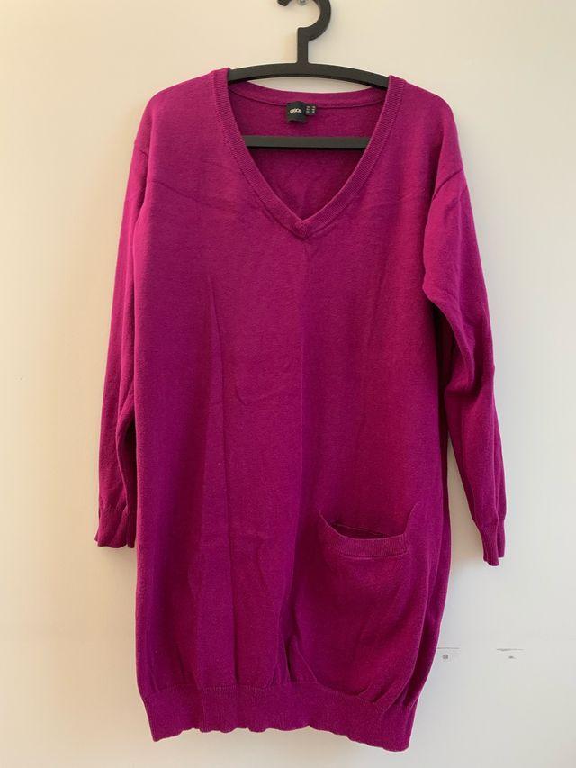 Burgundy jumper dress
