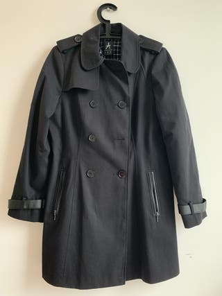 Black trench coat size 12