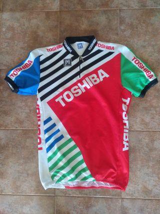 Ciclismo Toshiba SMS maillot ciclista