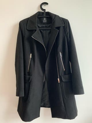 Black coat with zipper size 14