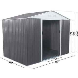Caseta metálica para jardín Dallas 5,29 m²