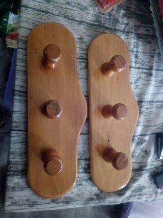 percha madera maciza nueva