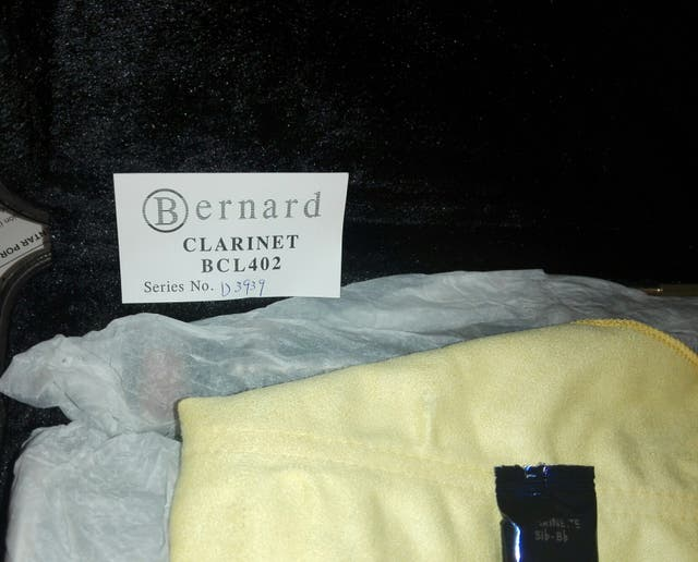 Clarinete Bernard sin estrenar