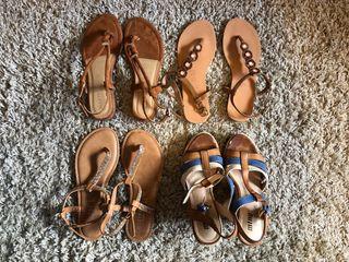 4 sandalias chica a 20 todaaass