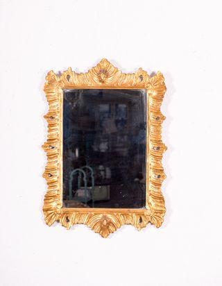 Espejo En Pan De Oro Antiguo