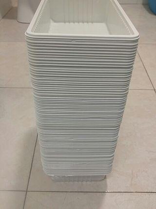 Bandejas de plástico fino 100 und
