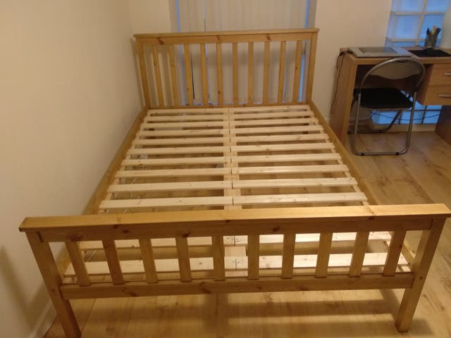 bed and furniture