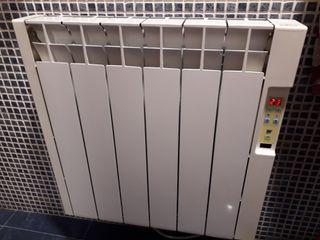 Radiadores de calor azul.