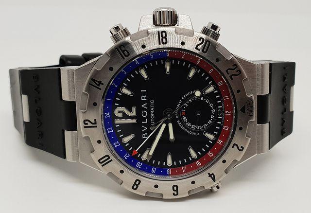 c2d05cf00b9 Reloj Bulgari Diagono GMT con revision completa de segunda mano por ...