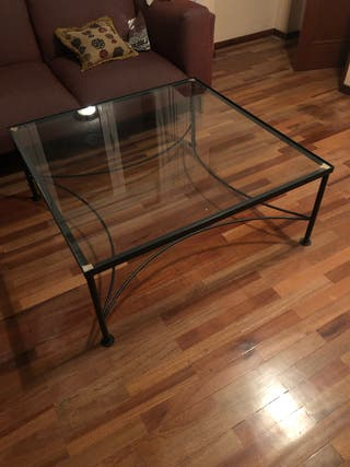 Mesa con cristal 1mx1m