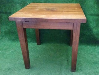 Mesa de madera 80x80