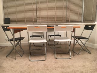 Table and chairs to sell