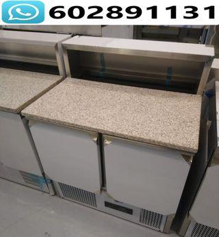 Mesas refrigeradas de preparacion con encimera
