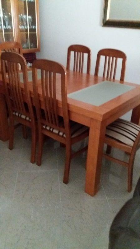 Mesa comedor + 6 sillas madera de segunda mano por 180 € en Cádiz en ...