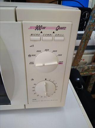Microondas con grill.