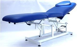 Camilla hidráulica de fisio masaje 3 cuerpos azul