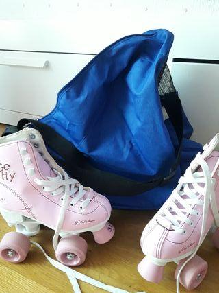patines niña con bolsa porta patines