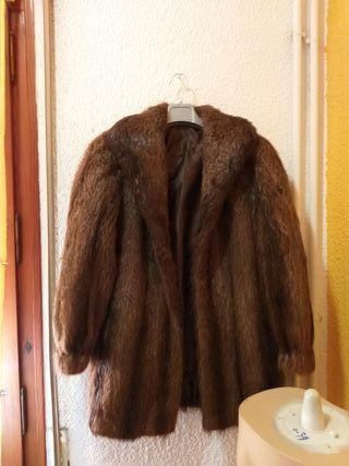 abrigo chaqueton pelo natural