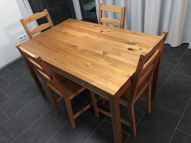 Juego mesa comedor y 4 sillas Jokkmokk Ikea de segunda mano por 50 ...
