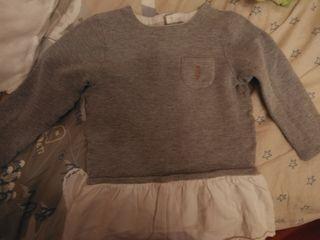 jersey con camisa niña 24 m